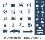 oil and petrol icon set | Shutterstock .eps vector #1083292649