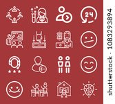 set of 16 people outline icons...   Shutterstock .eps vector #1083293894