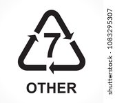 recycling symbols number 7...   Shutterstock .eps vector #1083295307
