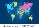 color world map vector | Shutterstock .eps vector #1083295601