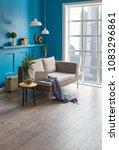 blue room living room interior... | Shutterstock . vector #1083296861