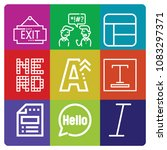 set of 9 word outline icons... | Shutterstock .eps vector #1083297371