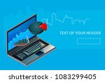 business analytics concept ... | Shutterstock .eps vector #1083299405