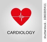cardiology icon. cardiology... | Shutterstock .eps vector #1083305411