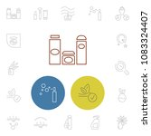 cosmetology icons set with... | Shutterstock .eps vector #1083324407