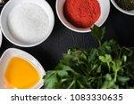 assortment of thai food cooking ...   Shutterstock . vector #1083330635