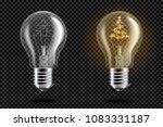 transparent realistic light... | Shutterstock .eps vector #1083331187