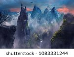 Fantasy Landscape Of Mountain...