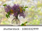 spring lilac bouquet on the... | Shutterstock . vector #1083332999