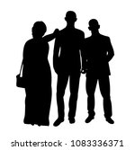silhouettes of people crowd | Shutterstock .eps vector #1083336371