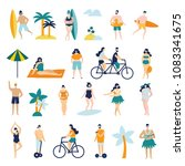 set of different people on the... | Shutterstock .eps vector #1083341675