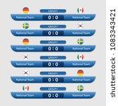 match schedule group f vector... | Shutterstock .eps vector #1083343421