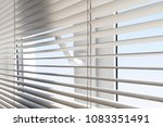 white plastic window with... | Shutterstock . vector #1083351491