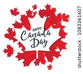 happy canada day vector...   Shutterstock .eps vector #1083361607