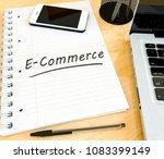 e commerce   handwritten text... | Shutterstock . vector #1083399149