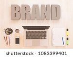 brand   text concept with... | Shutterstock . vector #1083399401