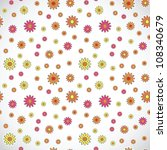 square light vector floral... | Shutterstock .eps vector #108340679