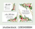 wedding invitation  invite ... | Shutterstock .eps vector #1083408884