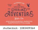 original handmade alphabet.... | Shutterstock .eps vector #1083409364