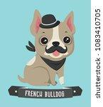 icon dog breed french bulldog.... | Shutterstock .eps vector #1083410705