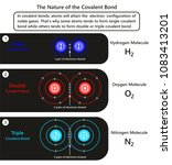 the nature of the covalent bond ... | Shutterstock . vector #1083413201