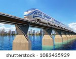railway transport concept  high ... | Shutterstock . vector #1083435929