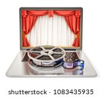 online cinema and movie... | Shutterstock . vector #1083435935