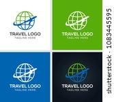 travel agency vector logo... | Shutterstock .eps vector #1083445595