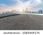 urban square road and skyline... | Shutterstock . vector #1083449174