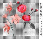 elegant checkered print with... | Shutterstock .eps vector #1083450839