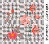 elegant checkered print with... | Shutterstock .eps vector #1083451055