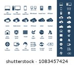 vpn icon set   24 icon set  ... | Shutterstock .eps vector #1083457424