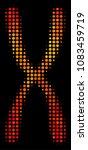 pixel chromosome icon. bright... | Shutterstock .eps vector #1083459719