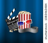 cinema concept element  film... | Shutterstock .eps vector #1083463484