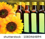 Glass Bottles With Sunflower...