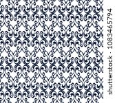 seamless vintage pattern with... | Shutterstock .eps vector #1083465794