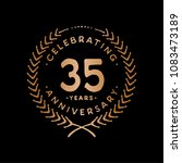 35 years design template. 35th... | Shutterstock .eps vector #1083473189