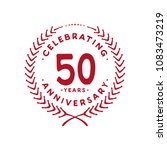 50 years design template. 50th... | Shutterstock .eps vector #1083473219