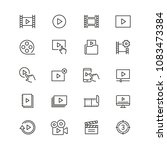 video content related icons ... | Shutterstock .eps vector #1083473384