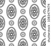 seamless vintage pattern with... | Shutterstock .eps vector #1083479474