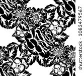 seamless monochrome pattern of... | Shutterstock .eps vector #1083479567