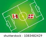 peru vs denmark flags vector... | Shutterstock .eps vector #1083482429
