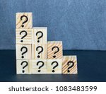 many question marks written on... | Shutterstock . vector #1083483599