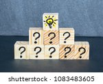 many question marks written on... | Shutterstock . vector #1083483605