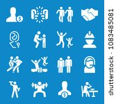 set of 16 people filled icons... | Shutterstock . vector #1083485081