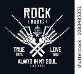 rock music t shirt design.... | Shutterstock .eps vector #1083485351
