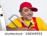 portrait of handyman | Shutterstock . vector #108349055