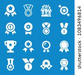 set of 16 award filled icons... | Shutterstock .eps vector #1083496814