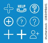 set of 9 button outline icons... | Shutterstock .eps vector #1083498641