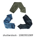 recycling of clothes. second... | Shutterstock . vector #1083501089